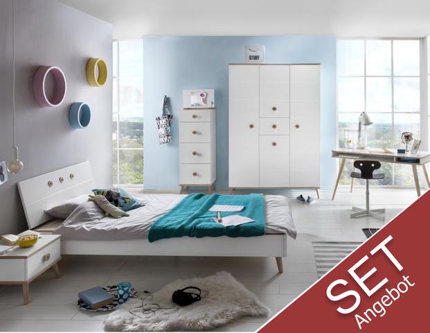 Kinderzimmer Billund mit Bett 140cm
