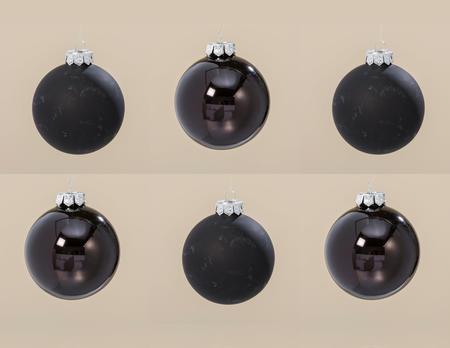 Weihnachtskugel D8cm schwarz