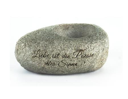 Teelichthalter Stein