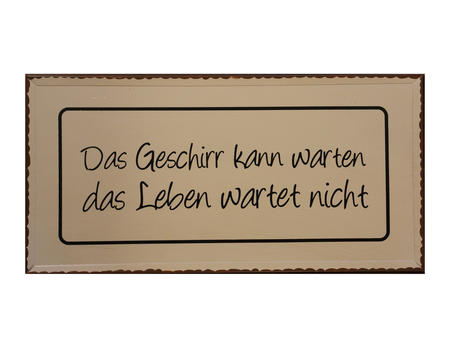 """Schild Trudi """"Geschirr..."""""""