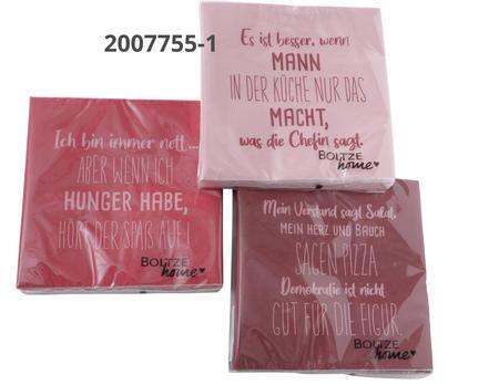 """Servietten Hunger """"Es"""""""