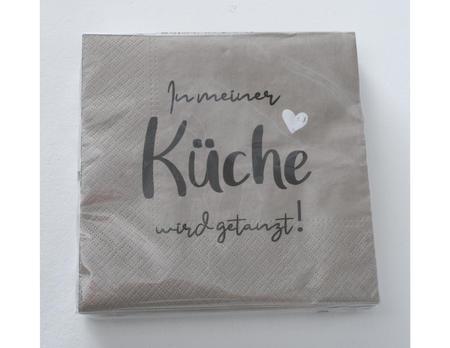 """Servietten Küche """"getanzt"""""""