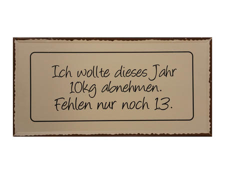 """Schild Trudi """"Jahr..."""""""