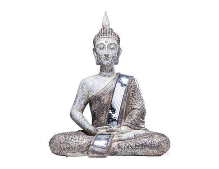Deko Figur Sitting Buddha Glam
