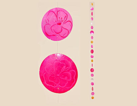 Capiz-Girlande Kia Blume uni