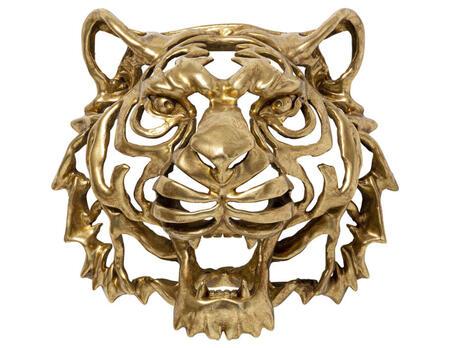 Wandschmuck Tiger Gold