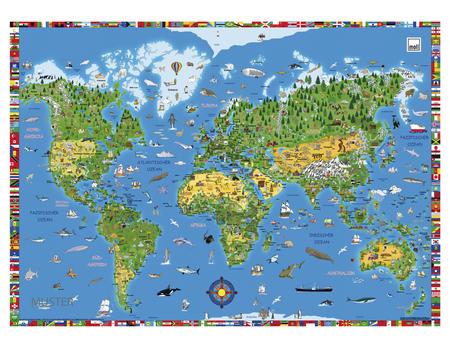 Weltkarte Schreibunterlage