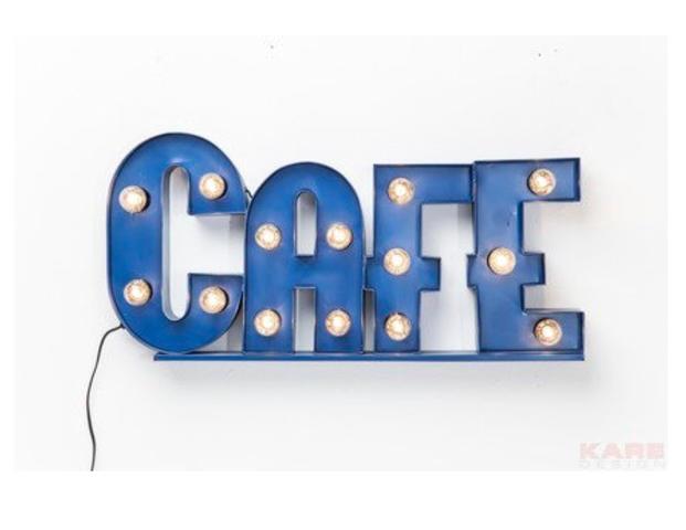 Leuchtobjekt Cafe
