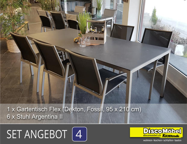Aktions Set - Gartentisch/Stühle