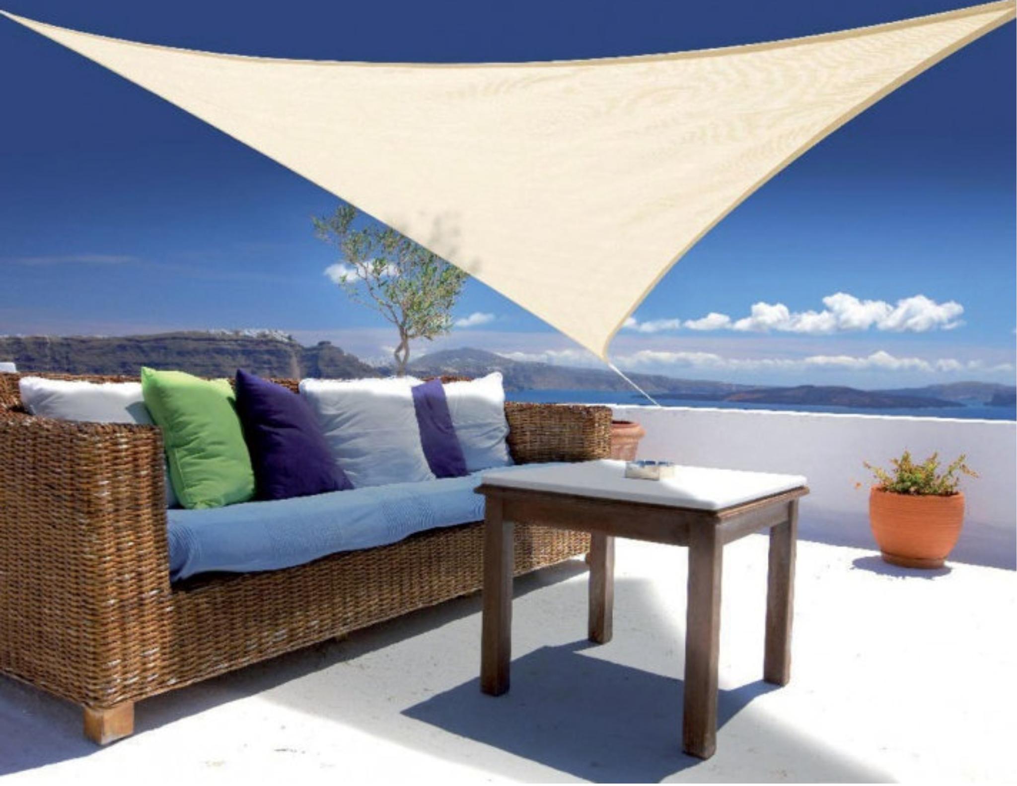 sonnensegel gnstig segel in xxxcm natur zur wandmontage. Black Bedroom Furniture Sets. Home Design Ideas